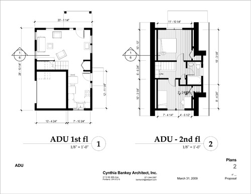 Ben shook studio exmample adu plans for Adu plans
